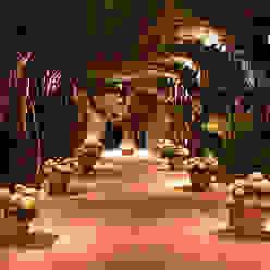 Private Villa in French Riviera Cannata&Partners Lighting Design Jardines de estilo clásico