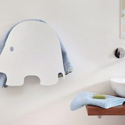 Elephant - electric towel warmer MG12 BagnoTessuti & Accessori Alluminio / Zinco Bianco