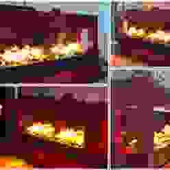 Concept nr. 5 - Elektrischer Kamin mit Opti-myst Kamineinsatz Kamin-Design GmbH & Co KG WohnzimmerKamin und Zubehör MDF Rot