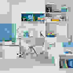 Dormitorio juvenil en tres zona de Sofás Camas Cruces Moderno