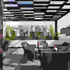 Casa Sorteo Tec No.191: Terrazas de estilo  por Arquiplan