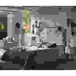 Dormitorio romantico:  de estilo colonial de Muebles la toskana, Colonial