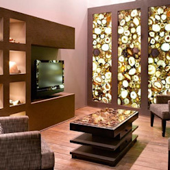 Round Carnelian Wall Panel Stonesmiths - Redefining Stoneage Living roomAccessories & decoration