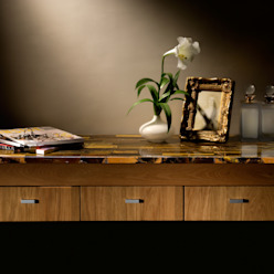 Golden Tiger's Eye Stonesmiths - Redefining Stoneage Dining roomTables