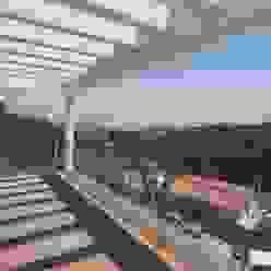 Terraza orientada a este FG ARQUITECTES Balcones y terrazas de estilo moderno