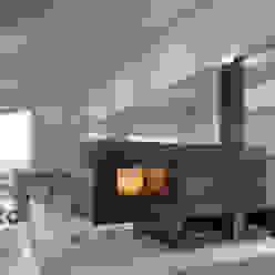 .kii7 | kiimoto - schwebender Kamin: modern  von kiimoto kamine,Modern