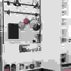 HANDE KOKSAL INTERIORS Cocinas de estilo industrial