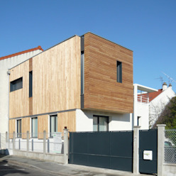 MAISON DE VILLE - Surélévation et extension en bois - près de PARIS Agence d'architecture Odile Veillon / ARCHI-V.O Maisons modernes