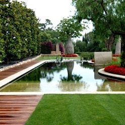 Piscina naturalizada FG ARQUITECTES Jardines de estilo moderno
