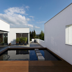Mehrfamilienhaus_H Moderner Balkon, Veranda & Terrasse von Fachwerk4 | Architekten BDA Modern