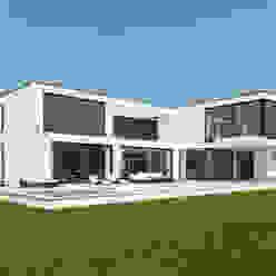 Ansicht Gartenseite Moderne Häuser von SOHOarchitekten Modern