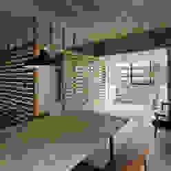 元浅草の住居: 蘆田暢人建築設計事務所 Ashida Architect & Associatesが手掛けたダイニングです。,ラスティック