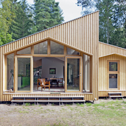 Timber Clad Exterior de Facit Homes Moderno