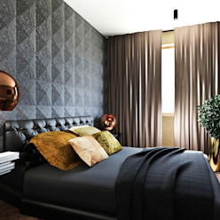 MONOstudio Modern style bedroom
