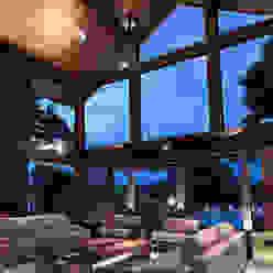 Casa de Campo Quinta do Lago - Tarauata Olaa Arquitetos Salas de estar campestres