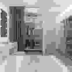Двухкомнатная квартира в Москве «Голубая дымка» Спальня в стиле минимализм от Мастерская дизайна Welcome Studio Минимализм