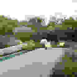 minimalistic architecture floating in dune landscape Andrew van Egmond (ontwerp van tuin en landschap) Jardines de estilo moderno