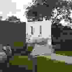 Traditional and Contemporary Mix Cherry Mills Garden Design Jardines de estilo moderno