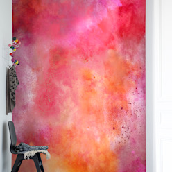 Colour Clouds, Chili:  Walls & flooring by Rebel Walls,