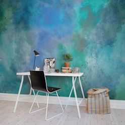 Colour Clouds:  Walls & flooring by Rebel Walls,