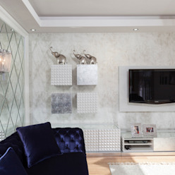 Salas de estar modernas por Mimoza Mimarlık Moderno