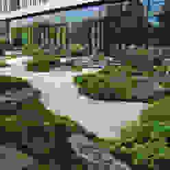 Japangarten Hannover - Kantinengarten Kokeniwa Japanische Gartengestaltung Asiatische Bürogebäude