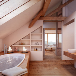 Banheiros rústicos por von Mann Architektur GmbH Rústico
