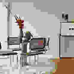 Apartamento A3_Reabilitação Arquitectura + Design Interiores Tiago Patricio Rodrigues, Arquitectura e Interiores Salas de jantar ecléticas