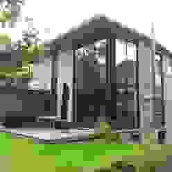 Gartenansicht von Architekt Witte Modern Beton