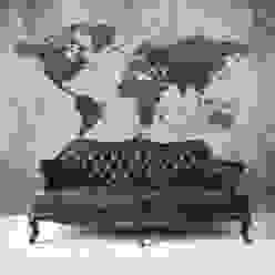 Worldmap Concrete Moderne woonkamers van BN International Modern