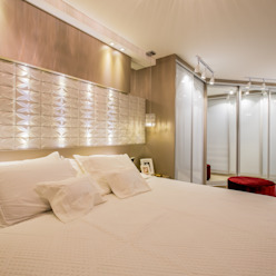 Apartamento em Cascavel Quartos modernos por Evviva Bertolini Moderno