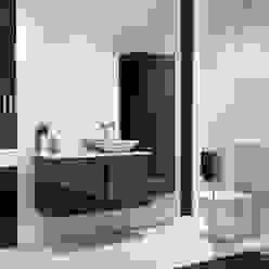 Mueble de baño modelo Michigan de 100 cms negro brillo Baños Online Baños de estilo escandinavo