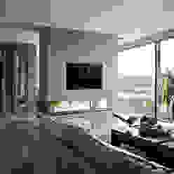 Woonkamer Moderne woonkamers van Studiozwart Architecten BNA Modern
