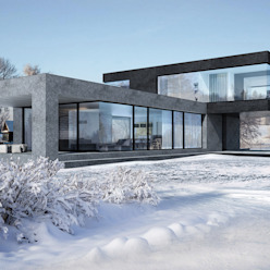 Minimalistische Häuser von ALEXANDER ZHIDKOV ARCHITECT Minimalistisch