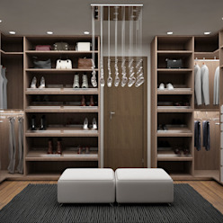 Closets modernos por Citlali Villarreal Interiorismo & Diseño Moderno