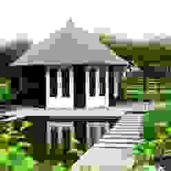 Thatched Octagonal Summerhouse Klassischer Garten von Garden Affairs Ltd Klassisch