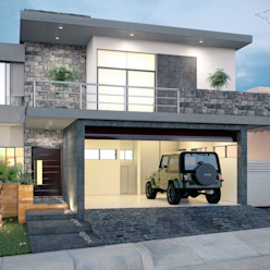 E2 FACADE Minimalist house by arQing Minimalist