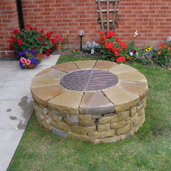 The Bowmont Lithic Fire Rustic style garden
