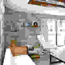 The Fireplace Akdeniz Oturma Odası ROAS ARCHITECTURE 3D DESIGN AGENCY Akdeniz