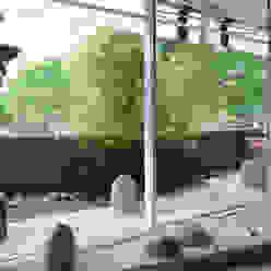 Japón en BCN - La terraza; creación de un jardín japones Daifuku Designs Balcones y terrazas de estilo asiático