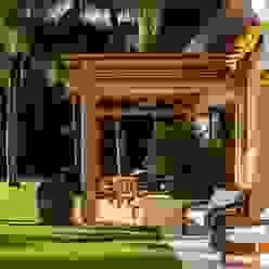 Casa Aramara BR ARQUITECTOS Balcones y terrazas tropicales