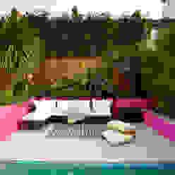 Moroccan style garden Gullaksen Architects Mediterranean style garden