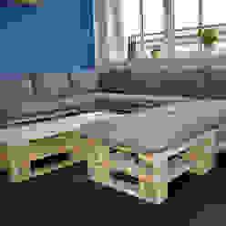 Exclusives Lounge Sofa - Loft Design - Modul - Innen- und Außenbereich: industriell  von homify,Industrial