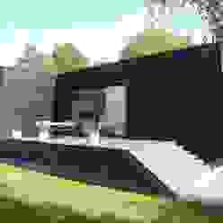 Gartenansicht Moderne Häuser von schroetter-lenzi Architekten Modern
