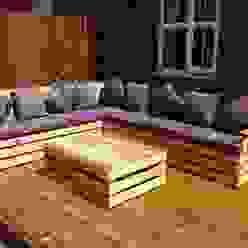 Garden corner unit : eclectic  by Pallet furniture uk, Eclectic