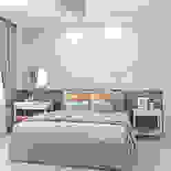 Skandynawska sypialnia od Ekaterina Donde Design Skandynawski