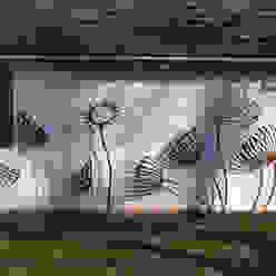 Wall mounted sculptures artinsteel Сад в стиле модерн