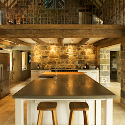 Les Prevosts Farm Cocinas rústicas de CCD Architects Rústico