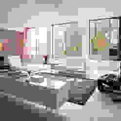 Leefgedeelte in Tetem Loft Industriële woonkamers van IAA Architecten Industrieel