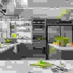 detalle de mobiliario: Cocinas de estilo  por GUTMAN+LEHRER ARQUITECTAS,